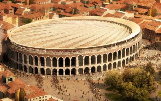 Involucri innovativi. E sopra l'Arena di Verona ci metteremo un bel velario (forse)