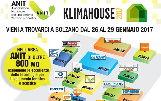 Klimahouse 2017: la presenza Anit e gli eventi formativi