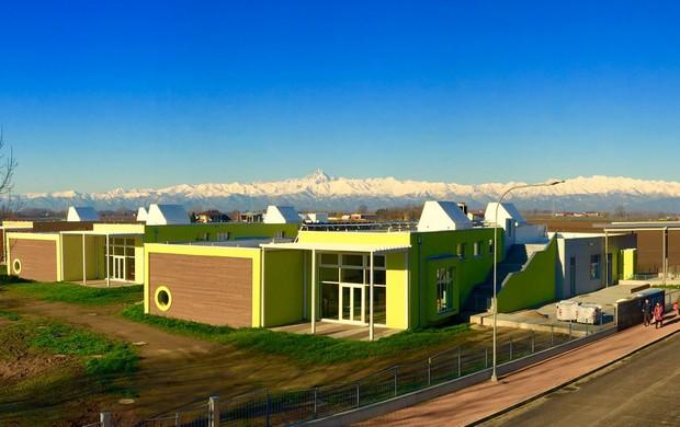 Serramenti in legno: la scuola dellinfanzia di Carignano, Torino ...