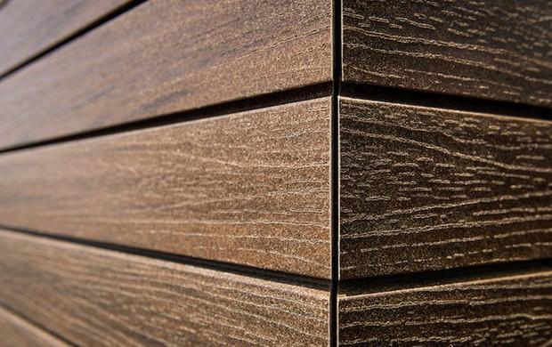 Facciate effetto legno con doghe wpc 70 legno 30 - Rivestire muro esterno ...