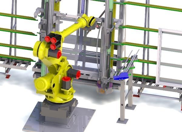Finestre in Pvc: isola robotizzata per montaggio fermavetri