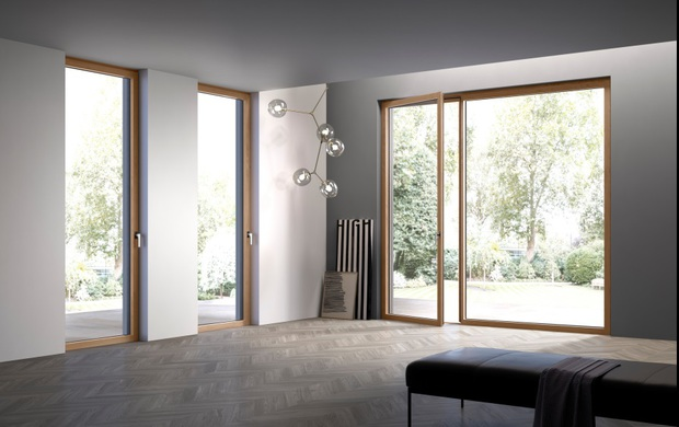 Pi luce con la nuova linea de carlo di finestre e portefinestre con anta a scomparsa - Finestre de carlo ...
