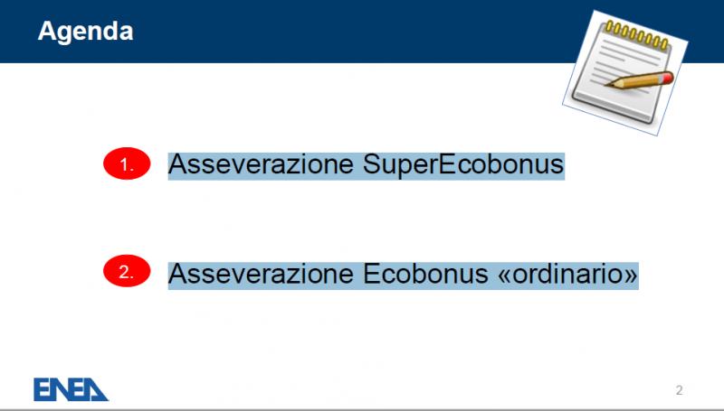Asseverazione Superbonus ed Ecobonus: precisazione Enea