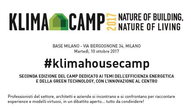 #Klimahousecamp seconda edizione a Milano