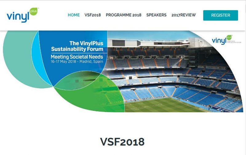 VinylPlus Sustainability Forum 2018: relatori e programma