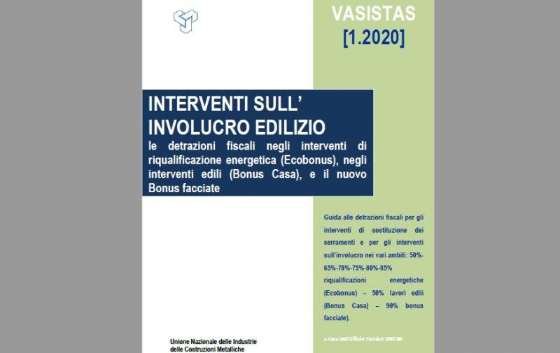 La Guida Vasistas 1-2020  di Unicmi su Involucro e detrazioni fiscali