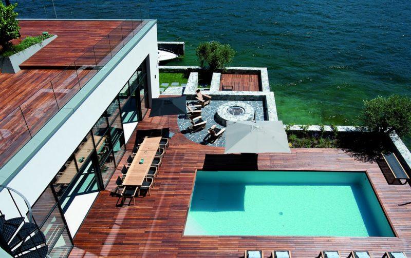 Serramenti OS2 65 Secco per Villa Breakwater sul Lago