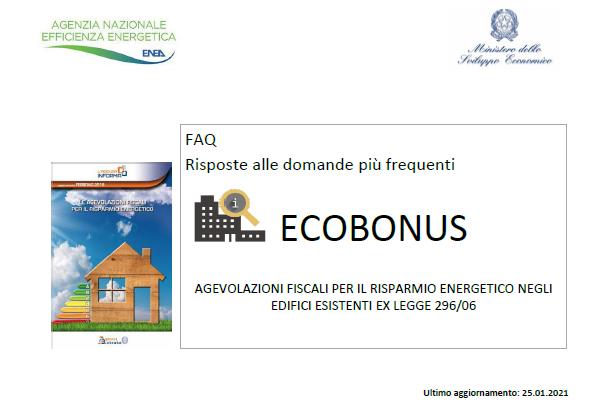 FAQ Ecobonus 2021 per Serramenti e Schermature. Che cambia?
