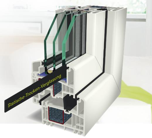 Incollaggio del vetro a secco STV per serramenti in pvc