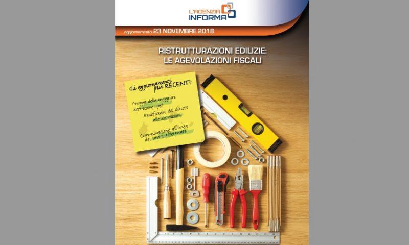 Agenzia delle Entrate. Online la Guida alle ristrutturazioni edilizie