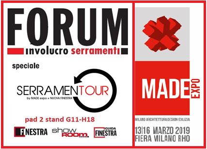 MADE expo 2019: ti aspettiamo a Forum Involucro Serramenti