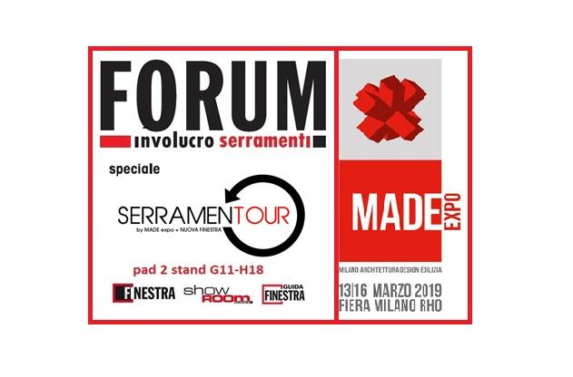 Forum Involucro Serramenti a Made expo 2019. Il programma è servito