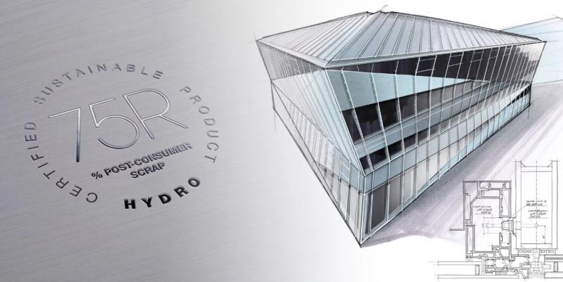 Facciate e serramenti in lega Hydro a basso contenuto di carbonio