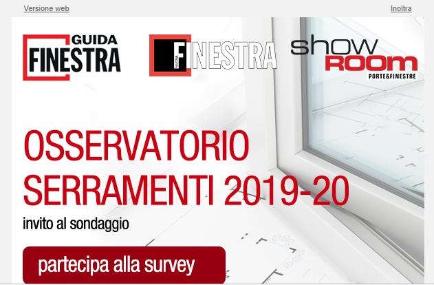 Osservatorio Serramenti. E' in corso l'indagine 2019/20
