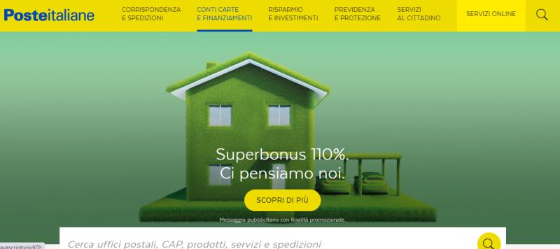 Cessione del credito Poste Italiane per Ecobonus: una superofferta