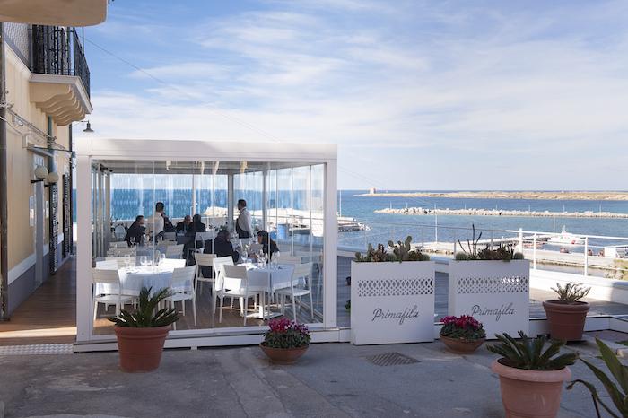 Pergole bioclimatiche Vision per il ristorante Primafila