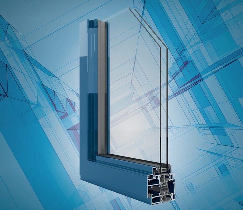 Finestre in alluminio a battente con profili ridotti