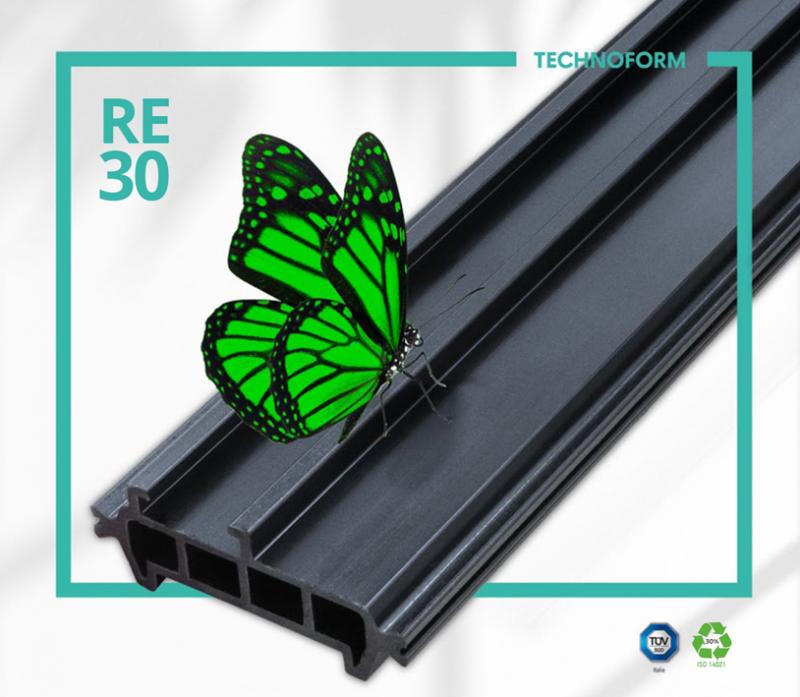 Recycled Polymide 30 è il nuovo profilo estruso di Technoform Bautec Italia