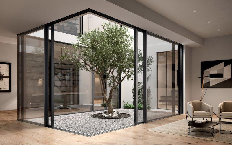 Serramenti alluminio: scorrevole Schüco ASE 67 Panorama Design
