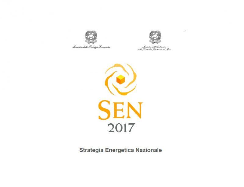 Varata la SEN-Strategia Energetica Nazionale 2017