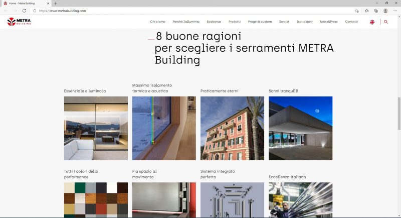 Nuovo sito Metra Building, responsivo e user friendly
