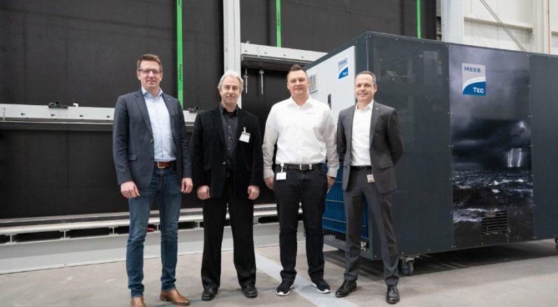 Nuova apparecchiatura di prova al Schüco Technologiezentrum