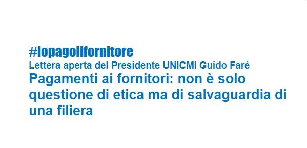 Faré, Unicmi: pagare i fornitori #infissicelafaremo
