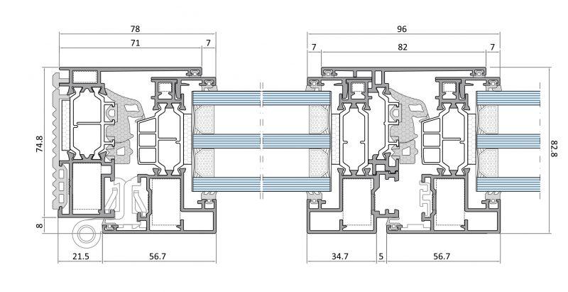 Nuove finestre in alluminio dalla Ponzio