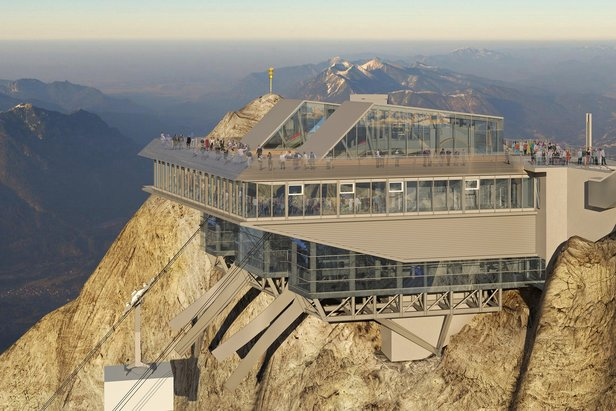 Facciate ad alta quota per la funivia Zugspitze