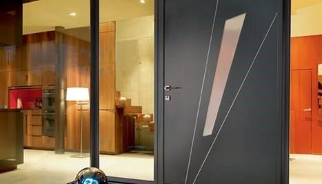 Porte di ingresso in alluminio decorate K-Line